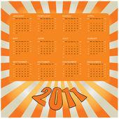 Vector calendar 2011 — Stock Vector