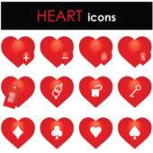 Hearts icon — Stock Vector