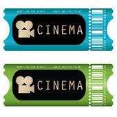 Boleto de cine — Vector de stock