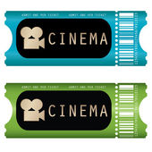 Movie ticket — Stok Vektör