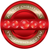 Special Merry Christmas label — Stock Vector
