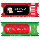 Tickets for Christmas Eve — Stock Vector