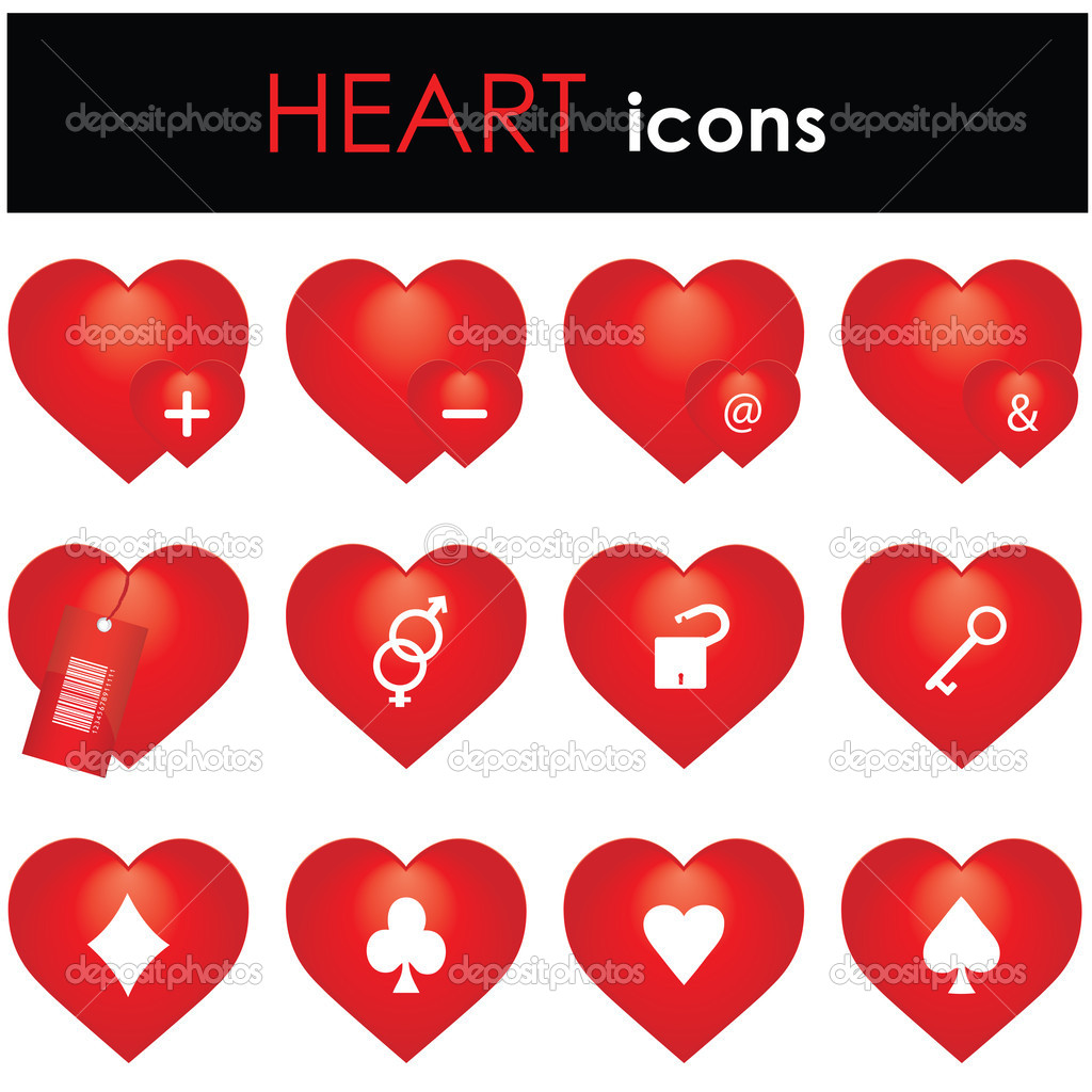 Hearts icon  — Stock Vector #4832142