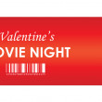 Valentine's movie night — Stock Vector