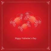 Vector valentine background with heart - vintage design — Stockvector