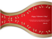 Happy Valentine's day - vintage background — Stock Vector