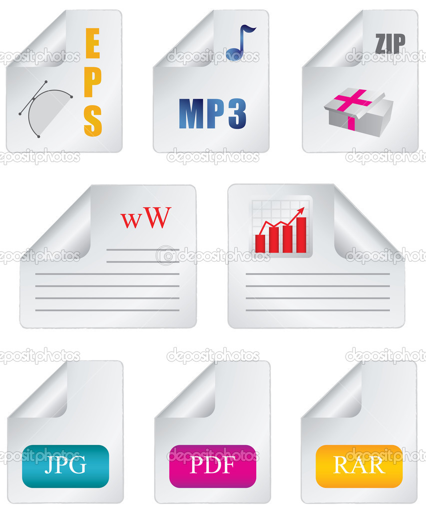 Document icon file extension  Stock Vector #4873251