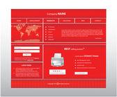 Business website template in editable vector format — Stock Vector