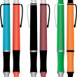 Vector de stock : Set of colored pencils