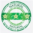 Natural food or product label - green VECTOR — Stockvektor