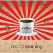 good morning coffee - background — Stock Vector