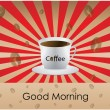 Good Morning coffee - background - Imagens vectoriais em stock