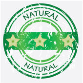 Natural food or product label - green VECTOR — Stock Vector