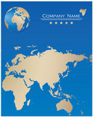 Blue webpage design — Stockvektor