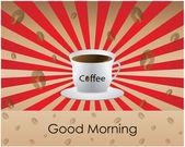 Café de bon matin - fond — Vecteur