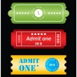 Stock Vector: Tickets in different styles - vector