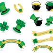 Royalty-Free Stock Vector Image: St. Patrick\'s day icons and banners