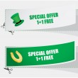 Special labels for St. Patrick's Day — Stock Vector