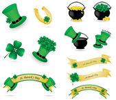 St. Patrick's day icons and banners — Stock Vector