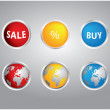 图库矢量图片: Special buttons for your website