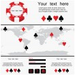 Poker design - website template — Stock Vector