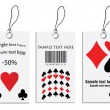 Vector set of tags - poker design — Stock Vector