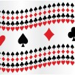 Stock Vector: Poker background