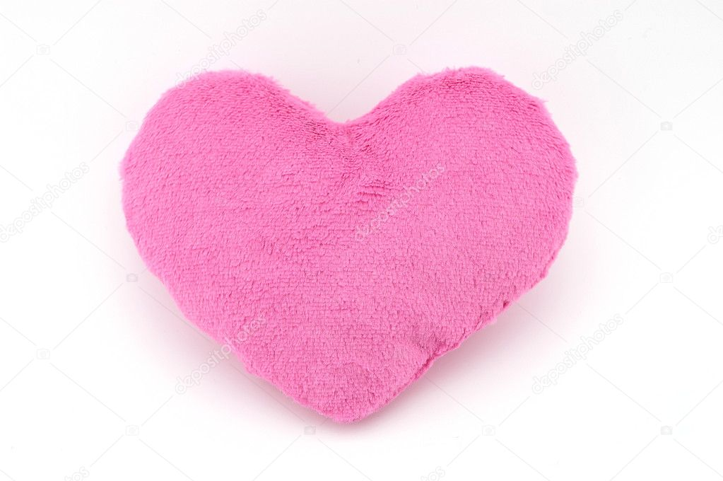 Soft toy pink heart. Valentine Day. — Stock Photo #5316915