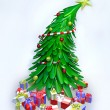 3D christmas tree and presents - Stock fotografie