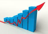 3D bar chart — Stock Photo