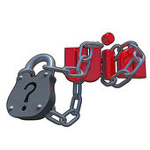 3D questionmark lock — Stock Photo