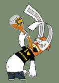 Bunny alcoholic — Stock Vector