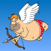 Fat cupid — Stock Vector