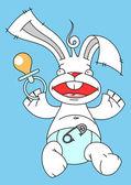 Bunny-babe — Stockvektor