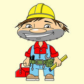 Happy builder — Stock Vector