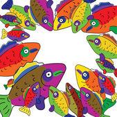 Neugierig fisch — Stockvektor
