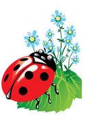 Belo inseto — Vetor de Stock