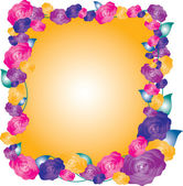 Frame of beautiful roses — Stock Vector