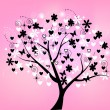 ストックベクタ: Floral tree beautiful