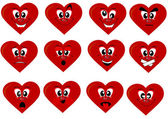 Heart smiles — Stock Vector