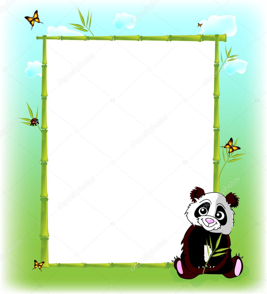 Vector illustration of Funny animal cartoon frame — Imagen vectorial #5255067