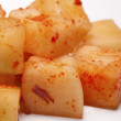 Side dish of radish kimchi. — Stock Photo