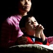 Boy says prayers with mother. — Stock Photo