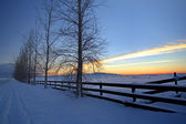 Winter scenic on the prairie. — Stock Photo
