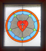 Stained glass heart. — Stock Photo