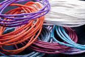 Multi colored papre twists. — Stock Photo