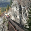 A train through the mountain - Stock Photo