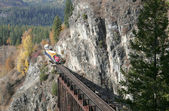 A train through the mountain — Stock Photo
