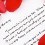 Valentines love letter. — Stock Photo