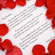 A love letter for Valentines day. — Stock Photo